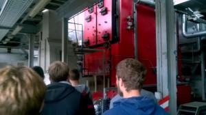 """UAB """"Kretingos šilumos tinklai""""  pristatytas vienas iš katilų, efektyviai naudojamas šilumos gamybai."""