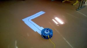 Numatoma roboto judėjimo trajektorija.