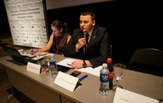 A. Daukantas, Novi Homines vadovas apibendrina diskusijos metu kilusius klausimus. Novi Homines CEO A. Daukantas summarizes the conclusions of the discussions.