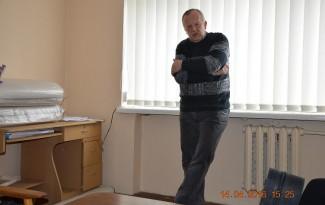 Teismo medicinos ekspertas Stasys Jasinskas susitikime su Alytaus  JPM