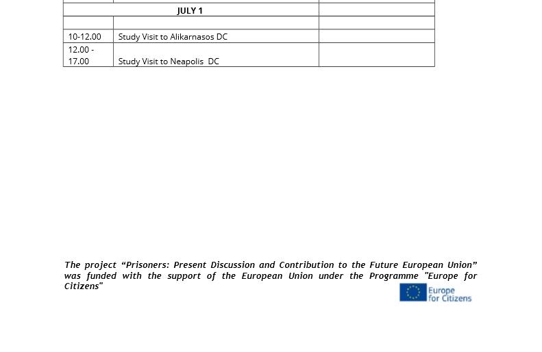 Preliminar schedule - Crete event2